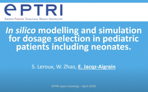 video In silico modelling and simulation for dosage selection in paediatric patients including neonates
