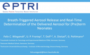video Breath-triggered aerosol release and real-time determination of the delivered aerosol for (pre)term neonates