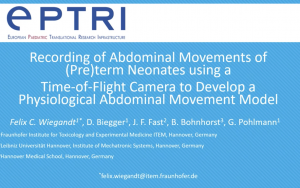 video Recording of abdominal movements of (pre)term neonates using a time-of-flight camera to develop a physiological abdominal movement model