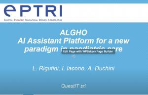 video ALGHO, AI assistant platform for a new care paediatric paradigm