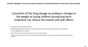 video Correction of the drug dosage according to changes in the weight of young children during long-term treatment can reduce the toxicity and side effects
