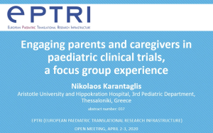 video Εngaging parents and caregivers in paediatric clinical trials, a focus group experience