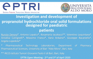 video Investigation and development of propranolol hydrochloride oral solid formulations designed for paediatric patients