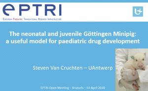 video ìThe neonatal Göttingen Minipig: a useful model for paediatric drug development