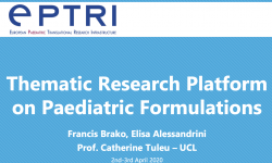 Thematic Research Platform on Paediatric Formulations