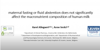 Maternal fasting or fluid abstention does not significantly affect the macronutrient composition of human milk